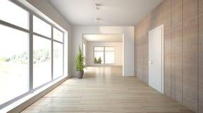 Белая внутренняя концепция для живущей комнаты Стоковые Изображения RF