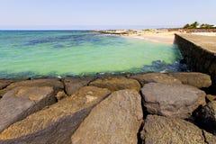 белая вода и лето камня Испании побережья Стоковая Фотография