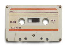 Белая двухкатушечная кассета стоковые фото