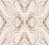 Белая вязать текстура предпосылки. Высокий Knit шерстяной f разрешения Стоковое Фото