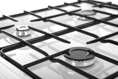 Белая газовая плита изолированная на белой предпосылке Стоковые Фотографии RF