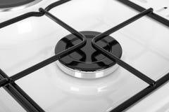 Белая газовая плита на белой предпосылке Стоковые Изображения RF