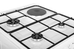 Белая газовая плита на белой предпосылке Стоковые Фото
