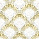 Белая геометрическая текстура в стиле стиля Арт Деко Стоковое Изображение