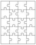 Белая головоломка Стоковое Изображение