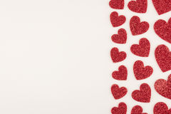 Белая граница влюбленности Стоковые Фотографии RF