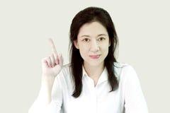 Белая девушка рубашки Стоковые Фотографии RF