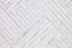 Белая деревенская деревянная предпосылка планок Стоковое Фото