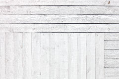 Белая деревенская деревянная предпосылка планок Стоковое фото RF