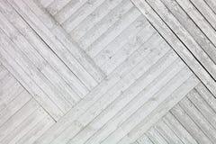 Белая деревенская деревянная предпосылка планок Стоковая Фотография RF