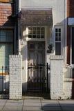 Белая деревянная дверь Стоковая Фотография RF
