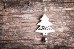 Белая деревянная ель Стоковая Фотография