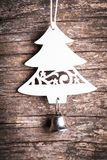 Белая деревянная ель Стоковое Изображение RF