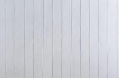Белая деревянная картина панели как предпосылка Стоковая Фотография