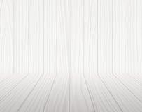 Белая деревянная комната Стоковая Фотография RF