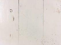 Белая деревянная предпосылка текстуры Стоковая Фотография