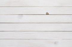 Белая деревянная предпосылка Стоковые Изображения RF