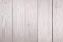 Белая деревянная предпосылка Стоковая Фотография RF
