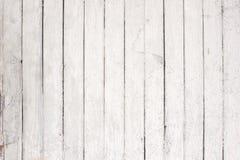Белая деревянная стена с старой краской Стоковые Фотографии RF