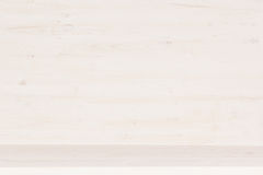 Белая деревянная текстура полки Стоковое Фото