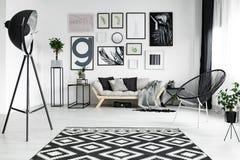 Белая живущая комната стоковая фотография