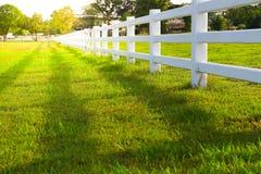 Белая загородка с Стоковое Фото