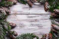 Белая затрапезная граница рождества Стоковое фото RF