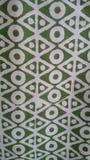 Белая зеленая комбинация дизайна ткани Стоковая Фотография RF