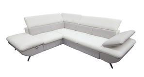 Белая изолированная софа Стоковая Фотография