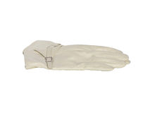 Белая изоляция кожаной перчатки Стоковые Фотографии RF