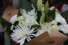 Белая лилия хризантемы букета Стоковое фото RF