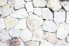 Белая каменная текстура предпосылки гравия Стоковая Фотография