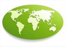 Белая карта мира. Стоковая Фотография RF