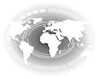 Белая карта мира. Стоковая Фотография