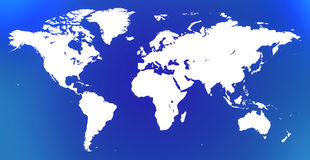 Белая карта мира Стоковое Фото