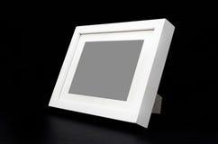 Белая картинная рамка на черноте Стоковые Изображения RF