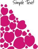 Белая карточка с сердцами Стоковая Фотография
