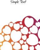 Белая карточка с сердцами Стоковое Изображение RF