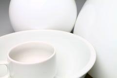 Белая керамика Стоковая Фотография