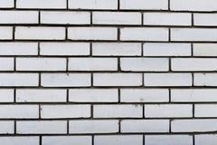 Белая кирпичная стена Фотография предпосылки и текстур Стоковое Фото