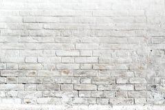 Белая кирпичная стена для предпосылки или текстуры стоковое изображение