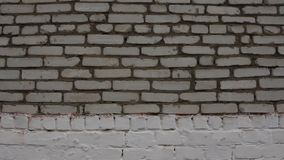 Белая кирпичная стена steadicam видеоматериал