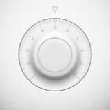 Белая кнопка тома технологии с маштабом Стоковое фото RF