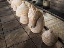 Белая команда на шахматной доске, спорте в Таиланде Стоковые Изображения RF