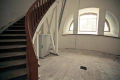 Белая комната внутри маяка Стоковые Фото