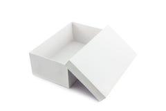 Белая коробка ботинка на белой предпосылке с путем клиппирования Стоковое Изображение RF
