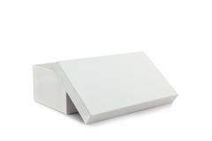 Белая коробка ботинка на белой предпосылке Стоковая Фотография RF
