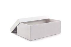 Белая коробка ботинка на белой предпосылке Стоковые Изображения RF