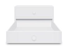 Белая коробка ящика Стоковое Изображение RF