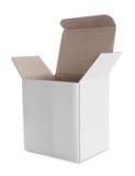 Белая коробка Стоковое Фото